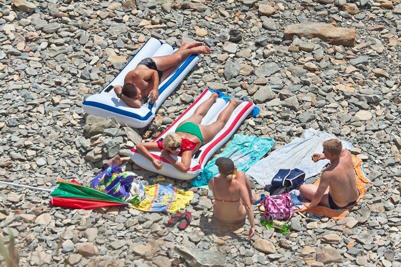Пляж Высокий Берег Анапа