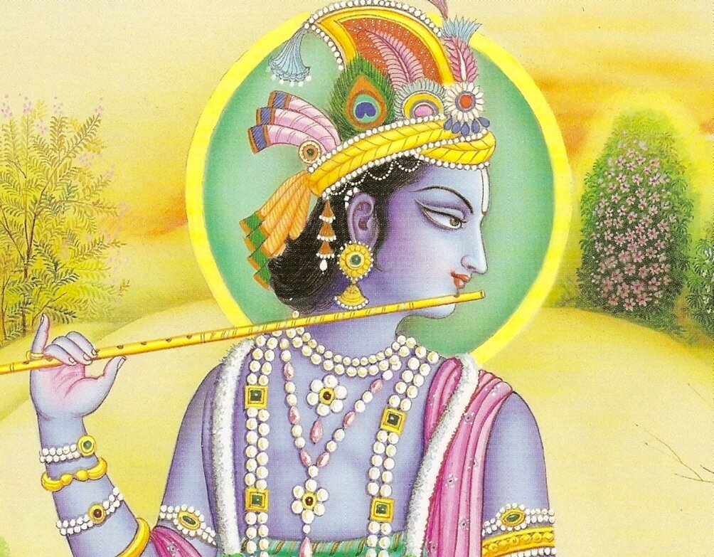 Искусство Индии - картина Кришна