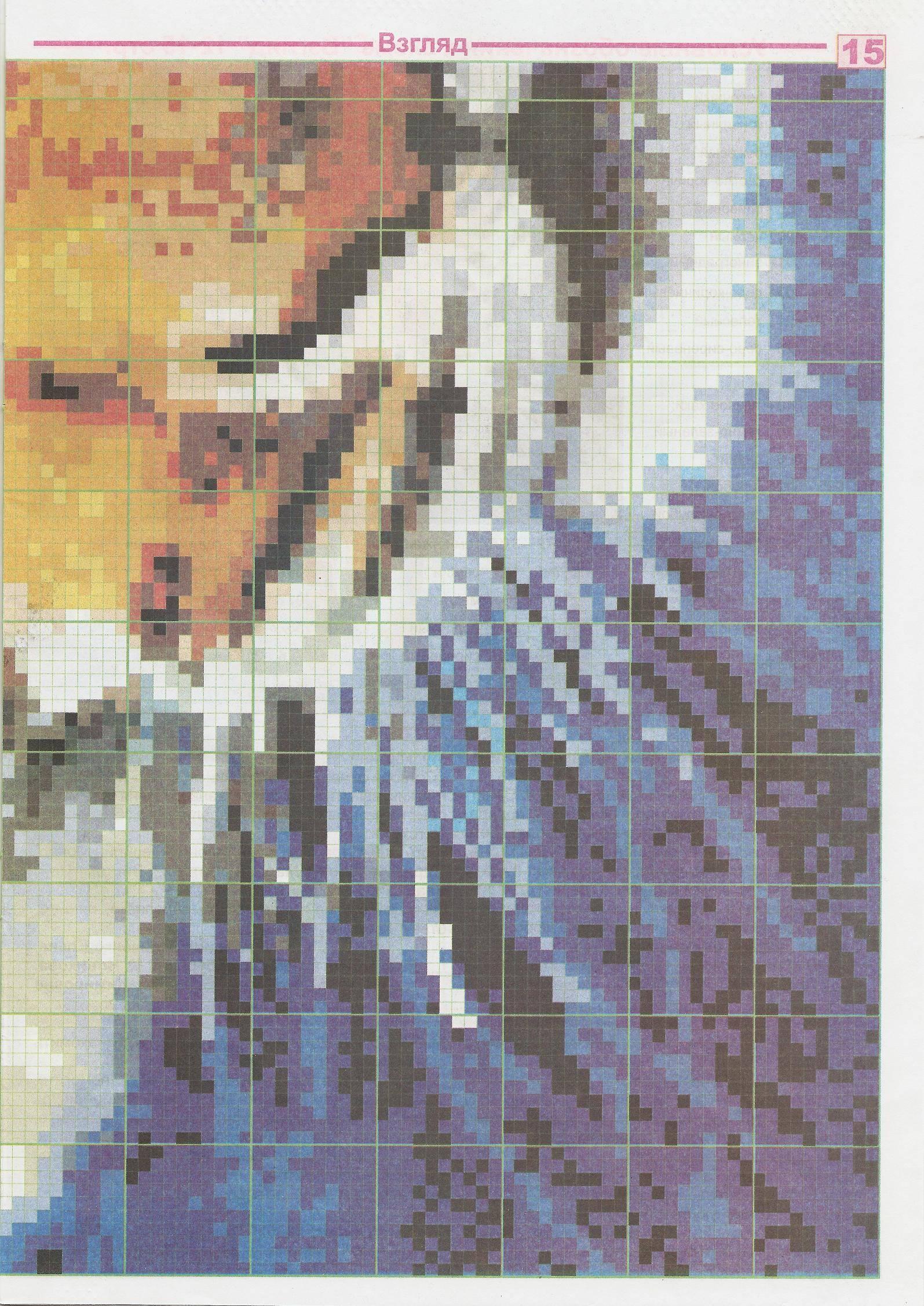 схема вышивок крестом тигр