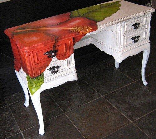 Краски для ручной росписи мебели