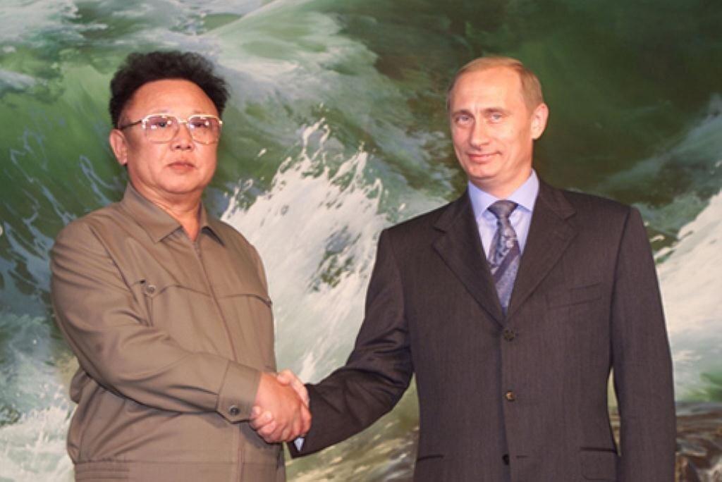Ким Чен Ир и Влаимир Путин.
