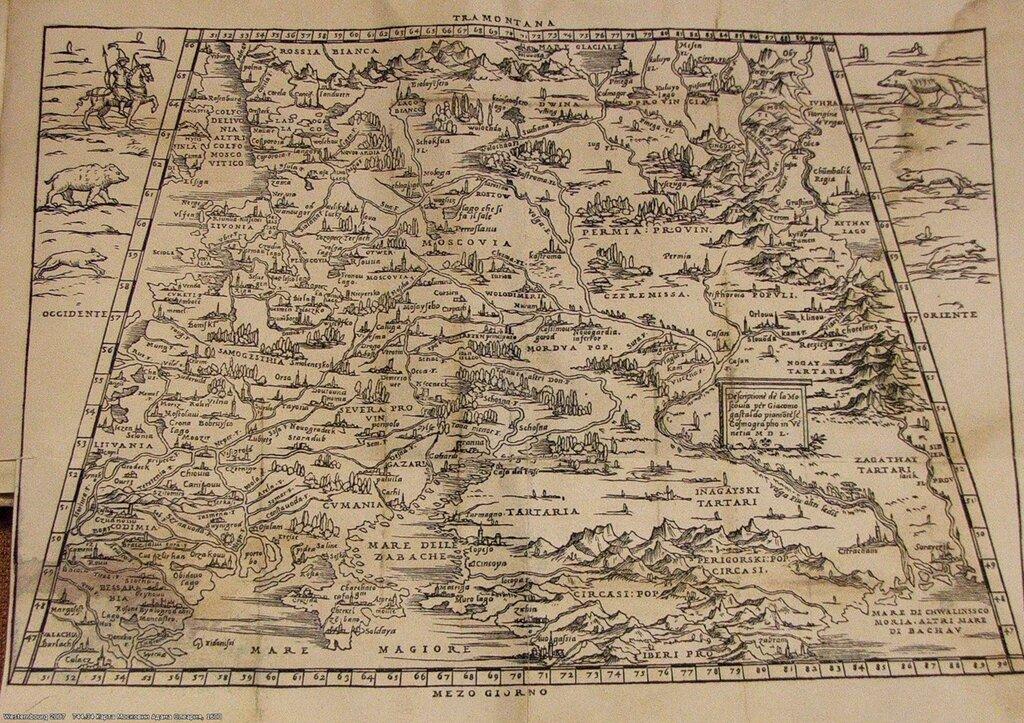 744.34 Карта Московии