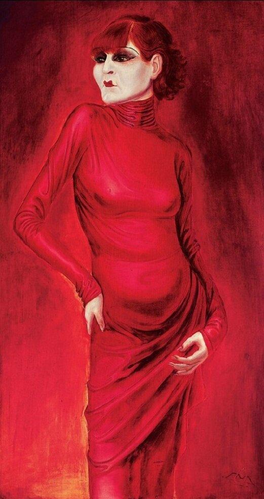 """""""The Dancer Anita Berber"""" 1925. by Otto Dix(1891 – 1969)"""