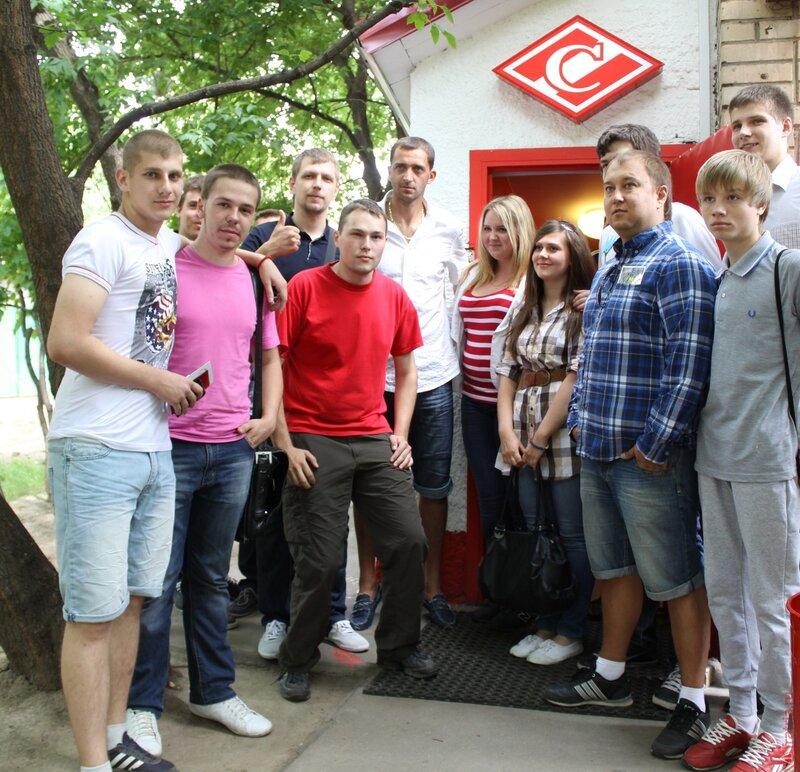 Дикань и братья Комбаровы встретились с фанатами «Спартака» (Фото-Видео)
