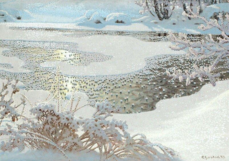 Gustaf Fjaestad. Иней на замёрзшем озере. 1929.jpg