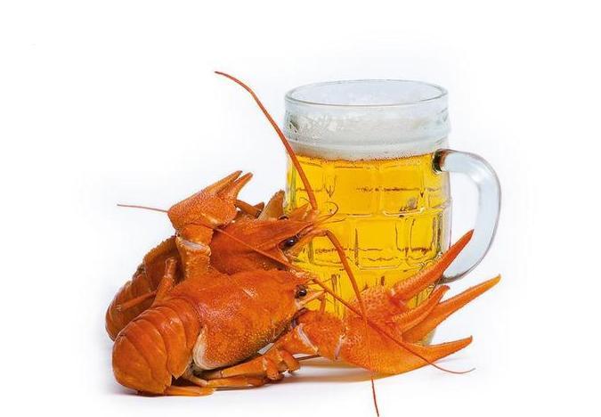 С днем пивовара! Раки у кружки пива