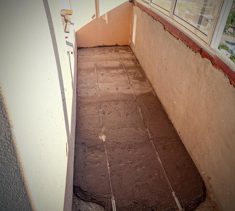 Залить пол на балконе своими руками видео