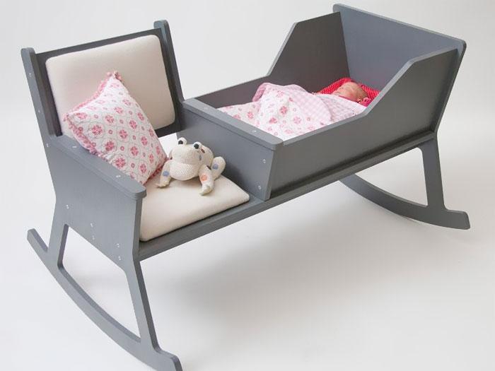 Кресло-качалка и детская кроватка Ontwerpduo.