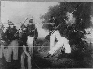 Егеря - репродукция с картины (форма 40-х гг. 19 века).
