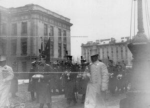Офицеры батальона - участники похорон командующего батальоном, военного инженера, генерал-адъютанта Николая I  Карла Андревича Шильдера.
