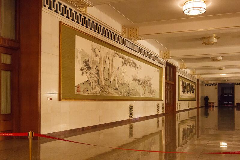 Картины на балконе Центрального холла, Дом народных собраний, Пекин