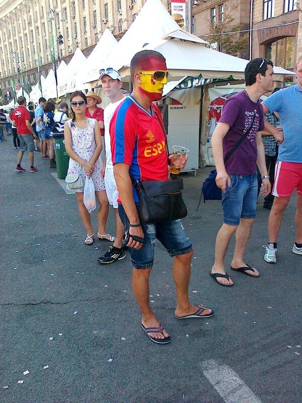 Фан сборной Испании в Киеве