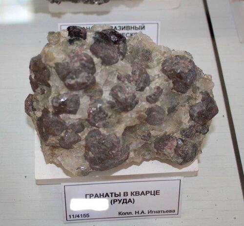 Гранаты в кварце (руда)