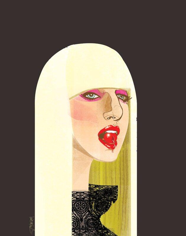 john jay illustration.Lady Gaga