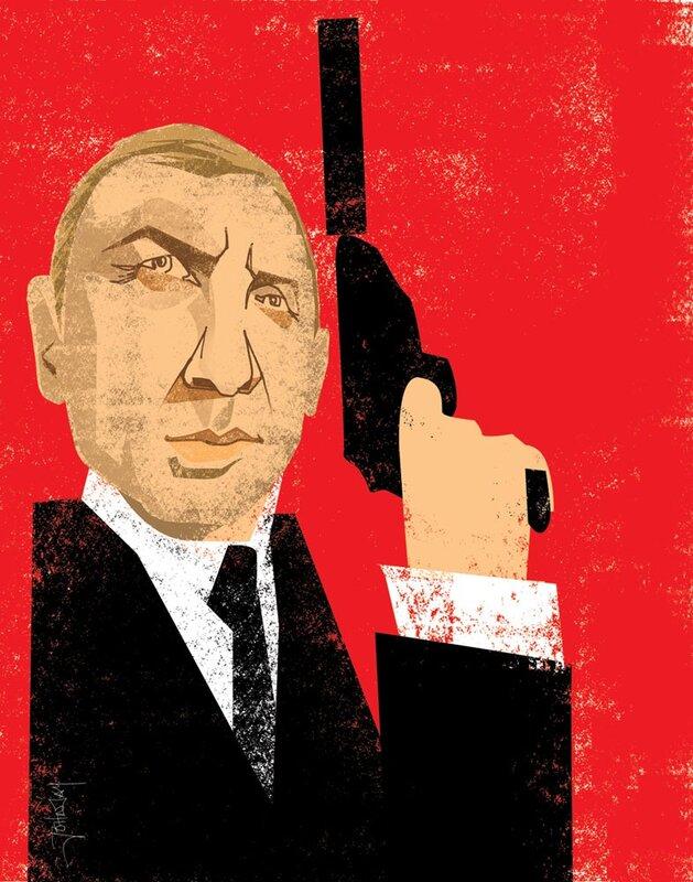"john jay illustration.Daniel Craig ""007"""