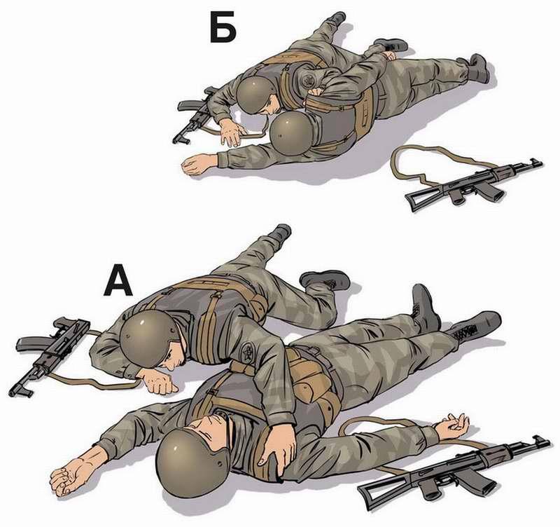 Правила поворота раненого на живот - 2