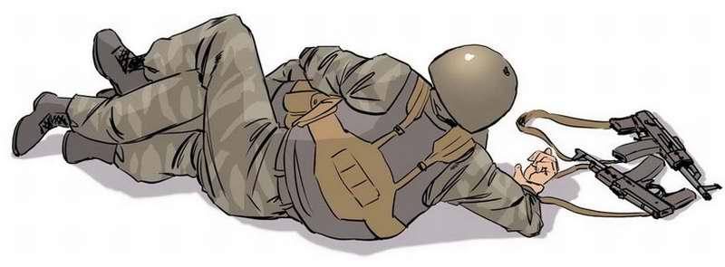 Правила поворота раненого на живот для транспортировки в укрытие - 3