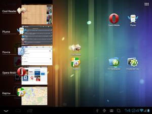 teXet TM-9720, скриншот