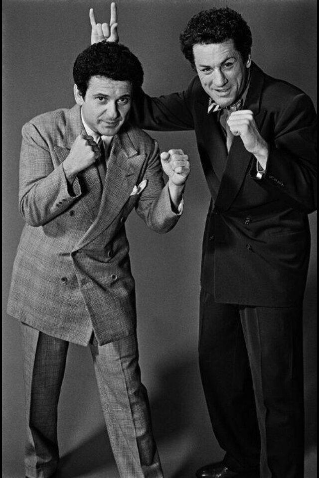1979. Джо Пеши и Роберт Де Ниро на съемках фильма «Бешеный бык»