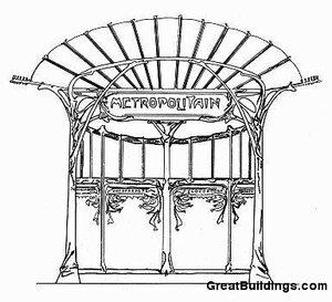 Оформление входа парижкого метро, архитекто Гектор Гимар