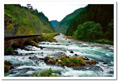 Норвегия. Водопады и пороги