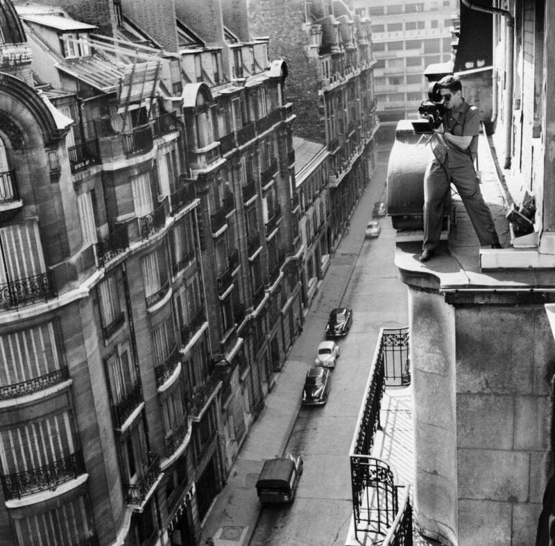 Съемка фильма Жана-Люка Годара «На последнем дыхании»