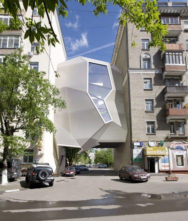 Офис-паразит для городской среды. Проект от студии 'Za Bor'.