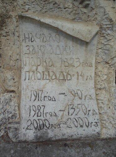 история парка в камне