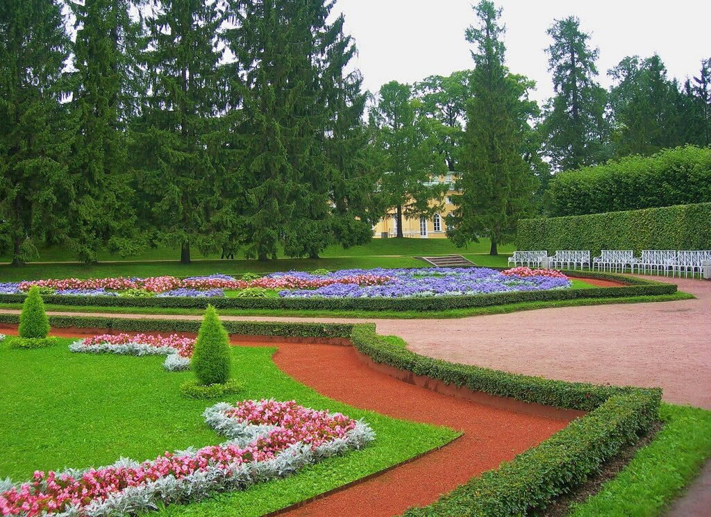 Цветники парка