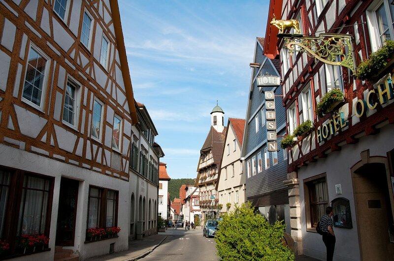 Городок Блаубойрен. Германия.