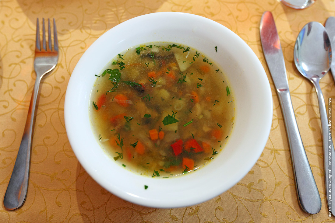 Похлебка «Старомосковская» чем кормят на теплоходе