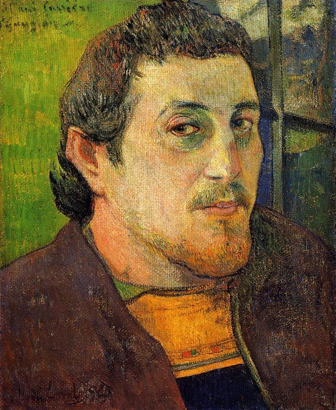 Self portrait at Lezaven 1888 Paul Gauguin, автопортрет 1888 Поль Гоген