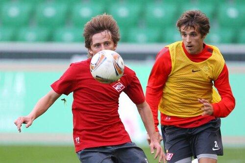 Тренировка Спартака в Варшаве 17-08-2011