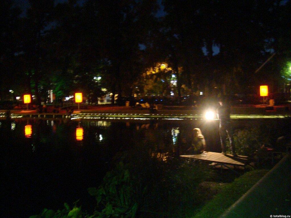 Вечер в новом Парке имени Горького