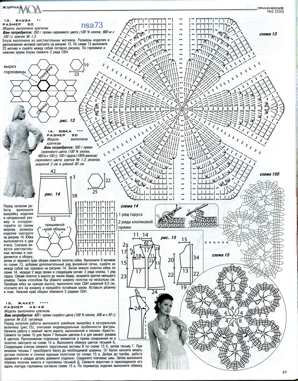 Вязание модные модели схемы