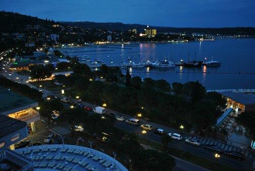 Вид с балкона отеля в Порторож