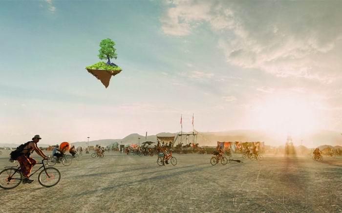 Летучий остров в небе над Европой
