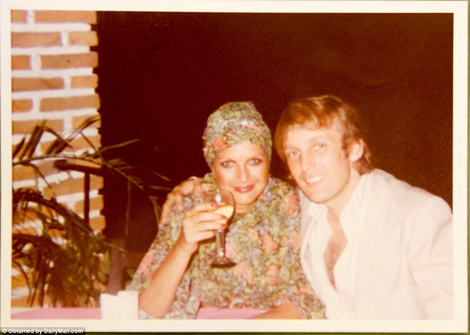 Дональд Трамп с первой женой, обворожительной моделью Иваной Трамп.
