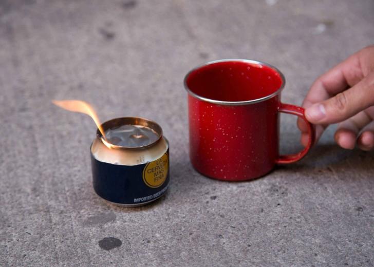 1. Оригинальная самодельная печь из банки из-под пива Собираясь в поход, первым делом необходимо поз
