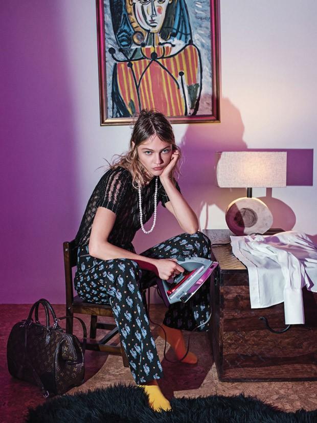 Саша Пивоварова (Sasha Pivovarova) в журнале Vogue Korea (8 фото)