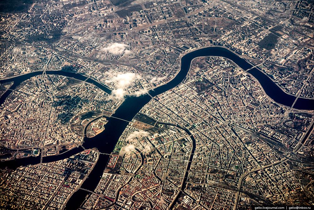 Санкт-Петербург. Фотографии из окна самолета