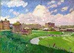 Городской пейзаж. Нара (худ. В. Филиппов, 1947)