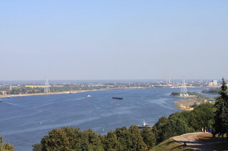 панорама р.Волга от памятника Чкалова
