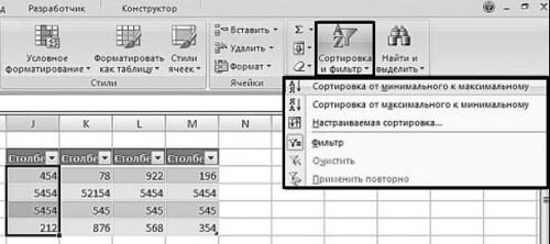 Сортировка текстовых значений в таблице Excel