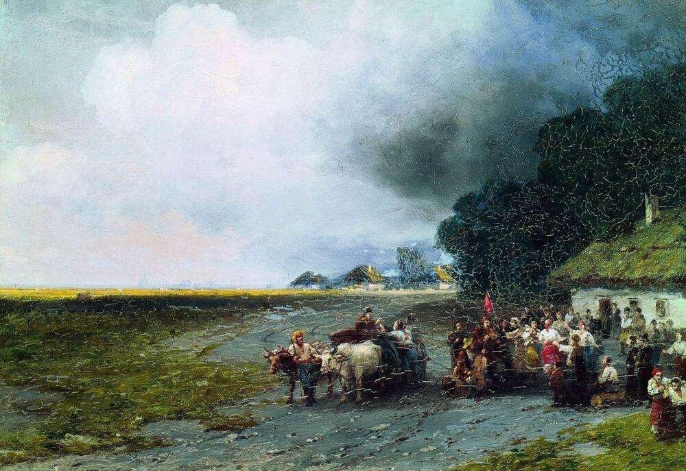 Айвазовский Иван Константинович. Свадьба на Украине. 1892.