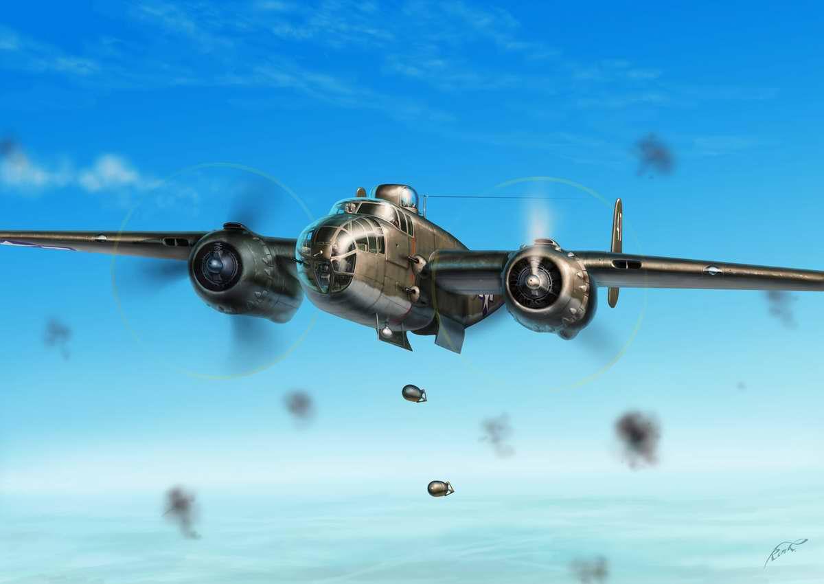 Американский бомбардировщик среднего радиуса действия B-25 Mitchell