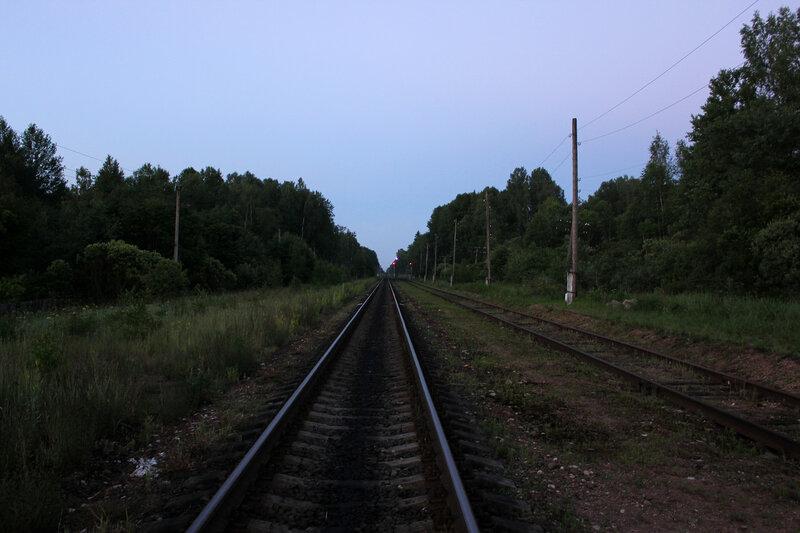 Станция Рождествено, вид на Вязьму. Левый путь разобран