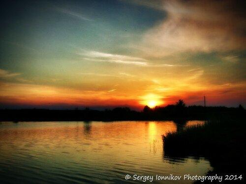 Андрушівка. Червона гірка. Стаськова гребля. Захід сонця. Травень 2014