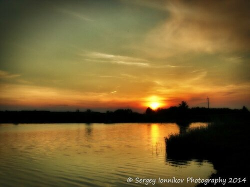 Andrushivka. Red Hill. Staskova dam. Sunset. May 2014