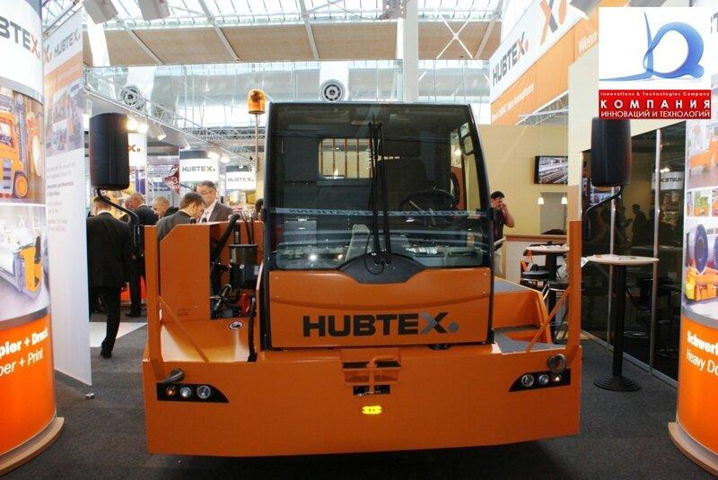 Платформенный тягач HUBTEX новинка на выставке Cemat
